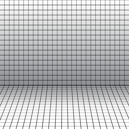 Vector background with a perspective grid. Illustration