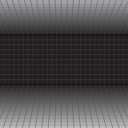 grey scale: Vector background with a perspective grid. Illustration
