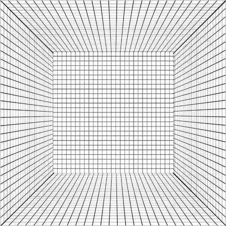 perspective grid: Vector background with a perspective grid. Illustration