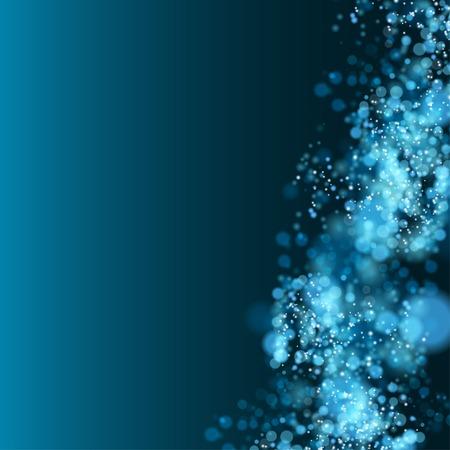 Lights on blue background bokeh effect. Vector EPS 10 Illustration