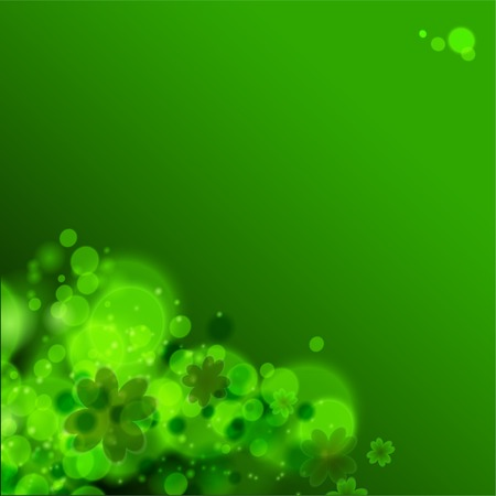 St. Patrick's day background in green colors. Vector illustration. Vector
