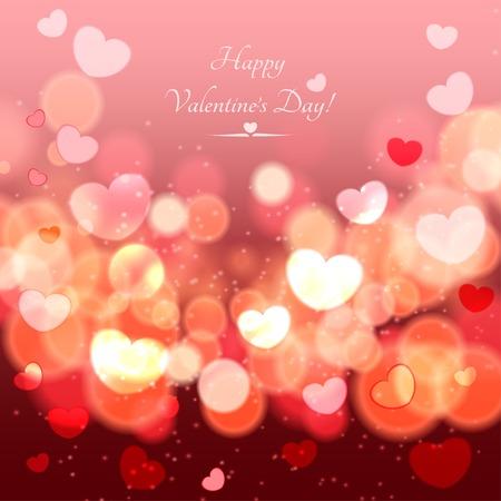추상 광선 소프트 하트 발렌타인 데이 배경