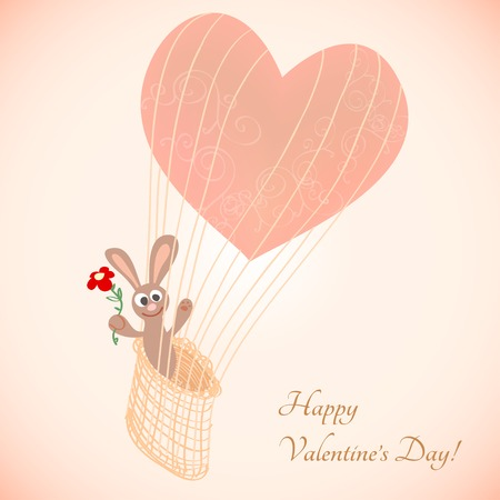 Card for Valentines Day and love. Vector illustration Vector