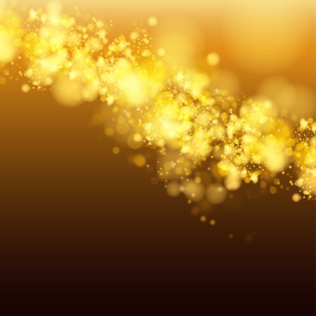 gleam: Lights on yellow background bokeh effect