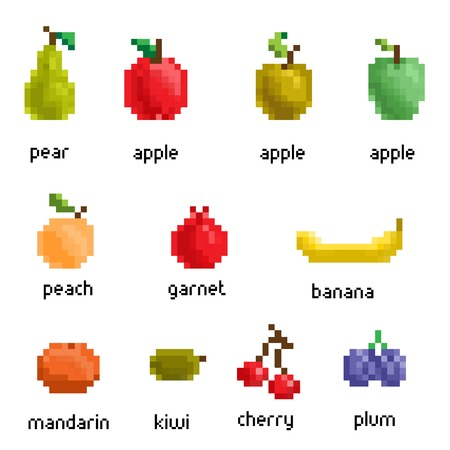 pixelated: pixel fruit collection