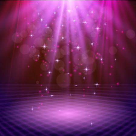 spotlight effect scene background Ilustrace