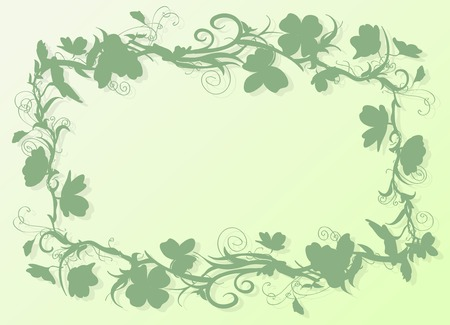 Isolated shamrock corner perfect for greetings with St. Patricks Day. Vector