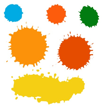 Collection of paint splash. Vector set of brush strokes. Isolated