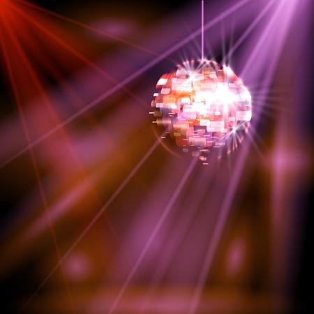 Party lights disco ball vector
