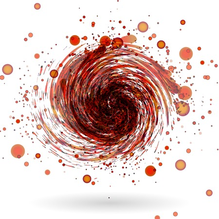 whirlwind: Red waves  on white background vector Illustration