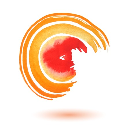 Swirl of watercolor. Abstract stylish background. illustration Illustration