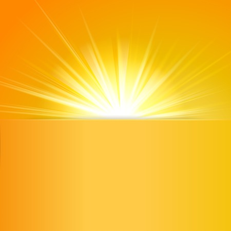 shiny sun with place for text  Illustration