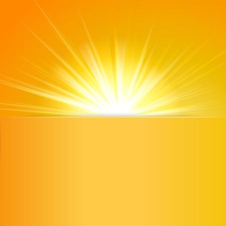 shiny sun with place for text  Ilustração