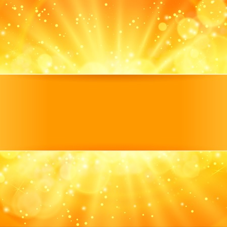 shiny sun vector  with place for text eps 10 Vector