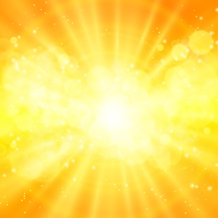 shiny sun vector, sunbeams, sunrays eps 10 Illustration