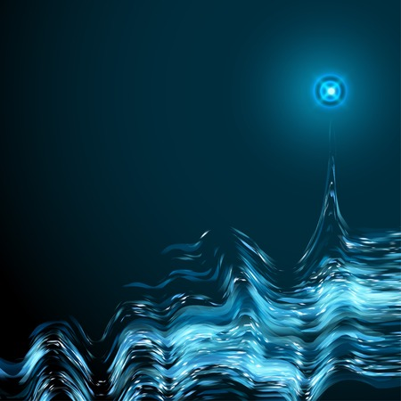 abstract digital sound wave background vector illustration.