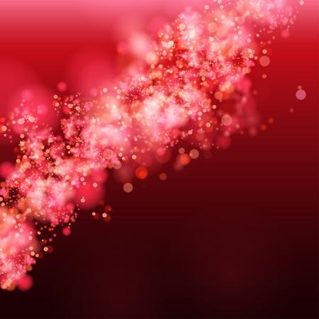 glamur: Lights on red background bokeh effect. Vector EPS 10 Illustration