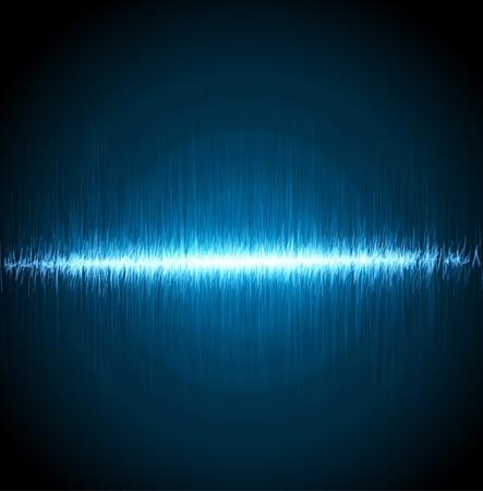 Numérique de la lumière bleue égaliseur fond. Vector illustration