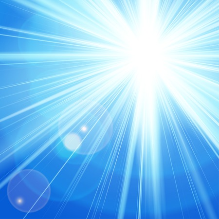 Sun with lens flare,  Vector illustration. EPS 10 Vector