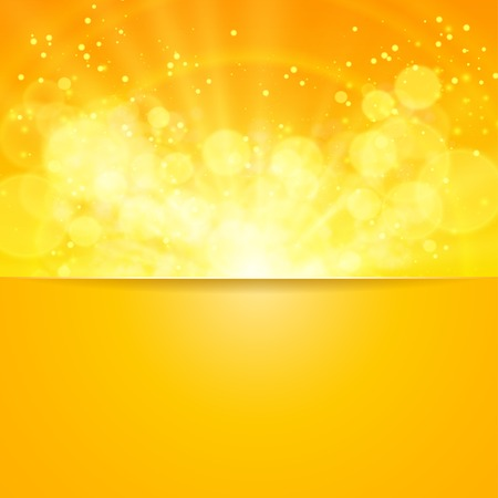 Shiny sun vector, sunbeams, sunrays, bokeh and space for your text