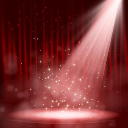 Nacht rood prestaties. Vector illustratie. EPS-10 Stock Illustratie