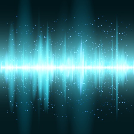 Digitale blauwe licht Equalizer achtergrond. Vector illustratie