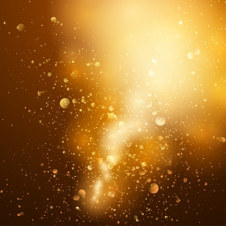 Abstract gold and brown background with space for text. Vector
