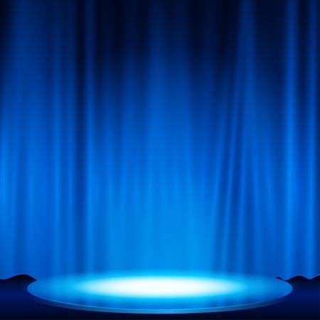 blue spotlight: spotlight effect scene background illustration Illustration
