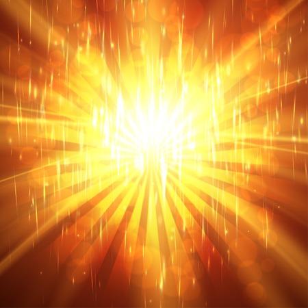 ardent: Priorit� Sunburst ardente sfondo illustrazione