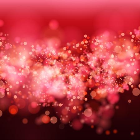 glamur: Lights on red background bokeh effect Illustration
