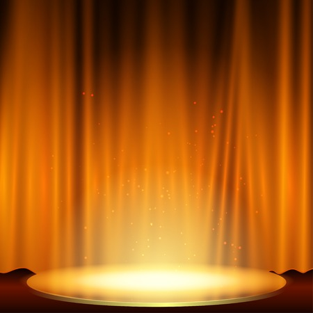 spotlight effect scene background illustration Illustration