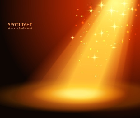 Magic light background illustration