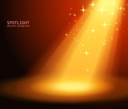 Magic light background illustration