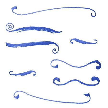 A set of  blue grunge vector strokes Vector