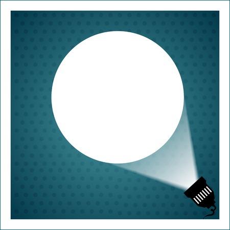 Spotlight projecting to blank wall