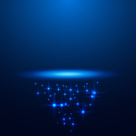 magic blue stage background for your business vector Ilustrace