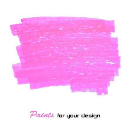 brush stroke: Bright purple vector brush stroke hand painted background Illustration