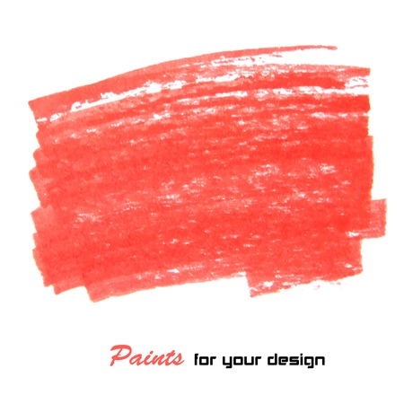spatters: Red vector abstract hand painted background eps 10 Illustration