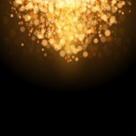 Gold Festive Christmas background. Elegant abstract