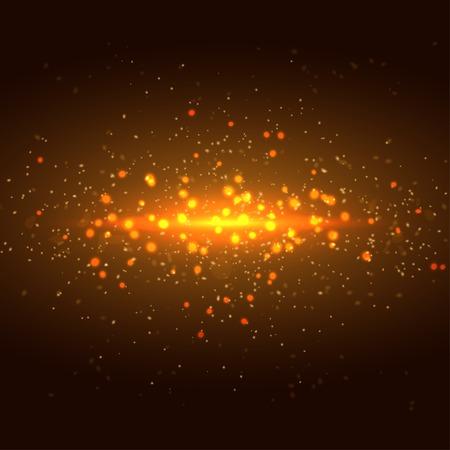Glittering stars on bokeh background vector