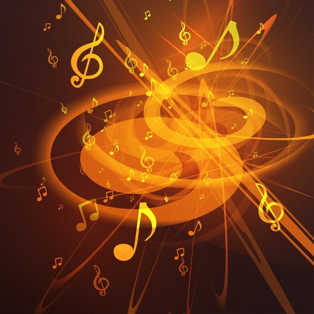 music notation: Vector Illustration of an Abstract Music Background