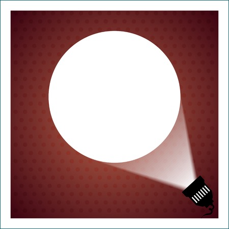 searchlight: Spotlight projecting to blank wall vector