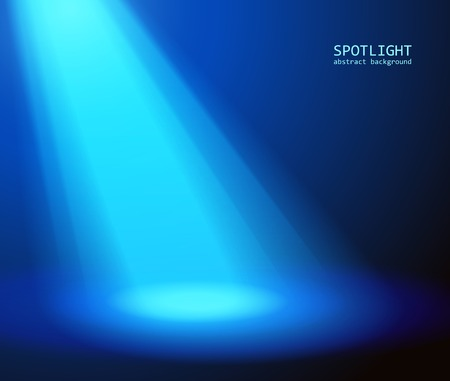 Abstract blue spotlight background.