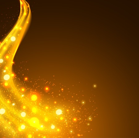 Abstract background with yellow lighting flare vector Illustration