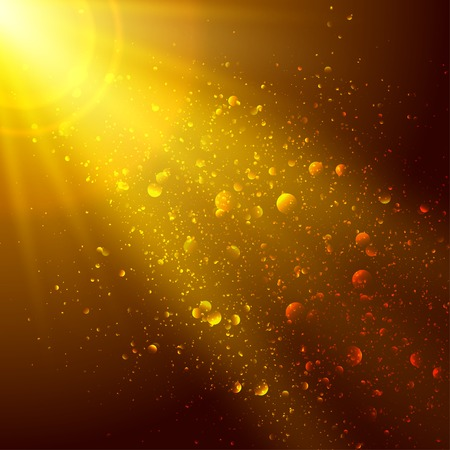 Abstract gold and brown background with space for text  Vector
