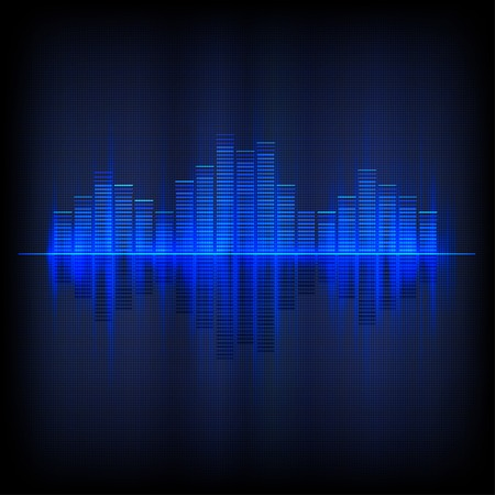 Digital blue light Equalizer background. Vector illustration Иллюстрация