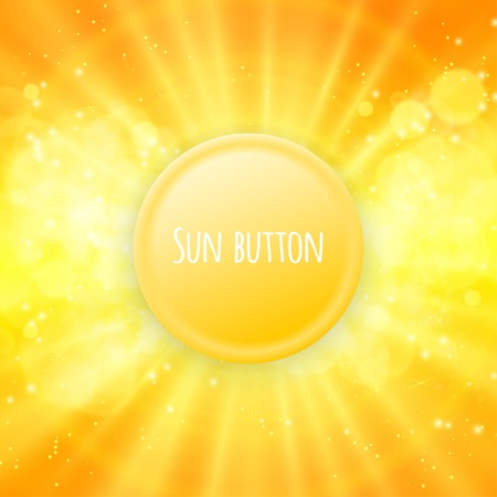 blinding: Shiny sun button vector for your text eps 10