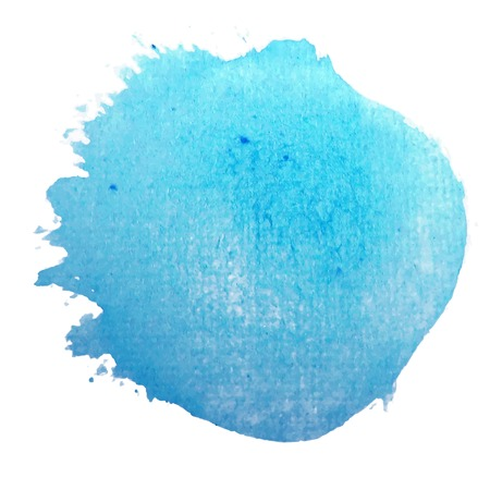Blue circle. Abstract stylish watercolor background. Vector illustration