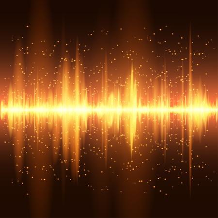 Digitale lichtoranje Equalizer achtergrond.