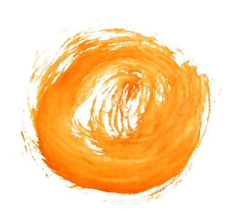 Abstract watercolor art hand paint on white background Ilustração